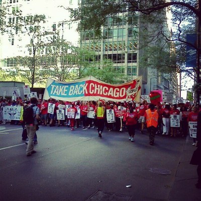 2012 Chicago Teachers Union Strike March