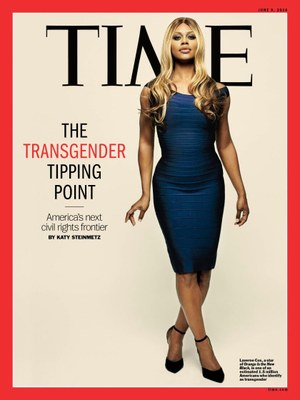 Time Magazine cover of Laverne Cox