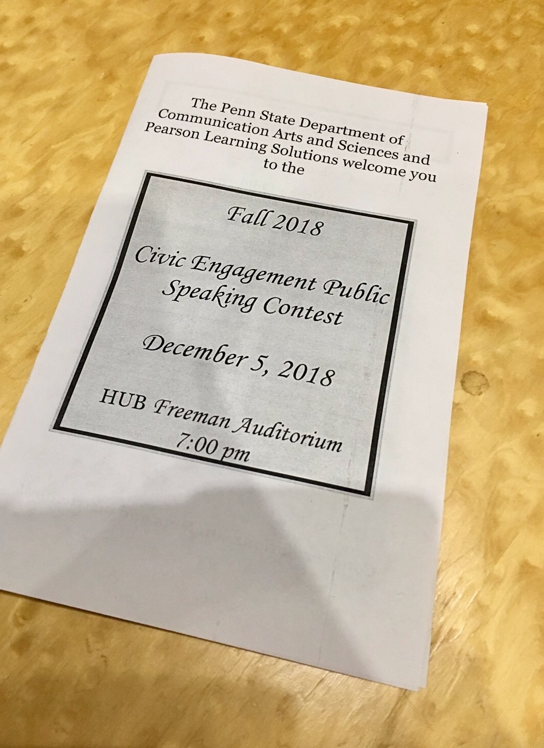 Congratulations to the 2018 Civic Engagement Public Speaking Contest Winners