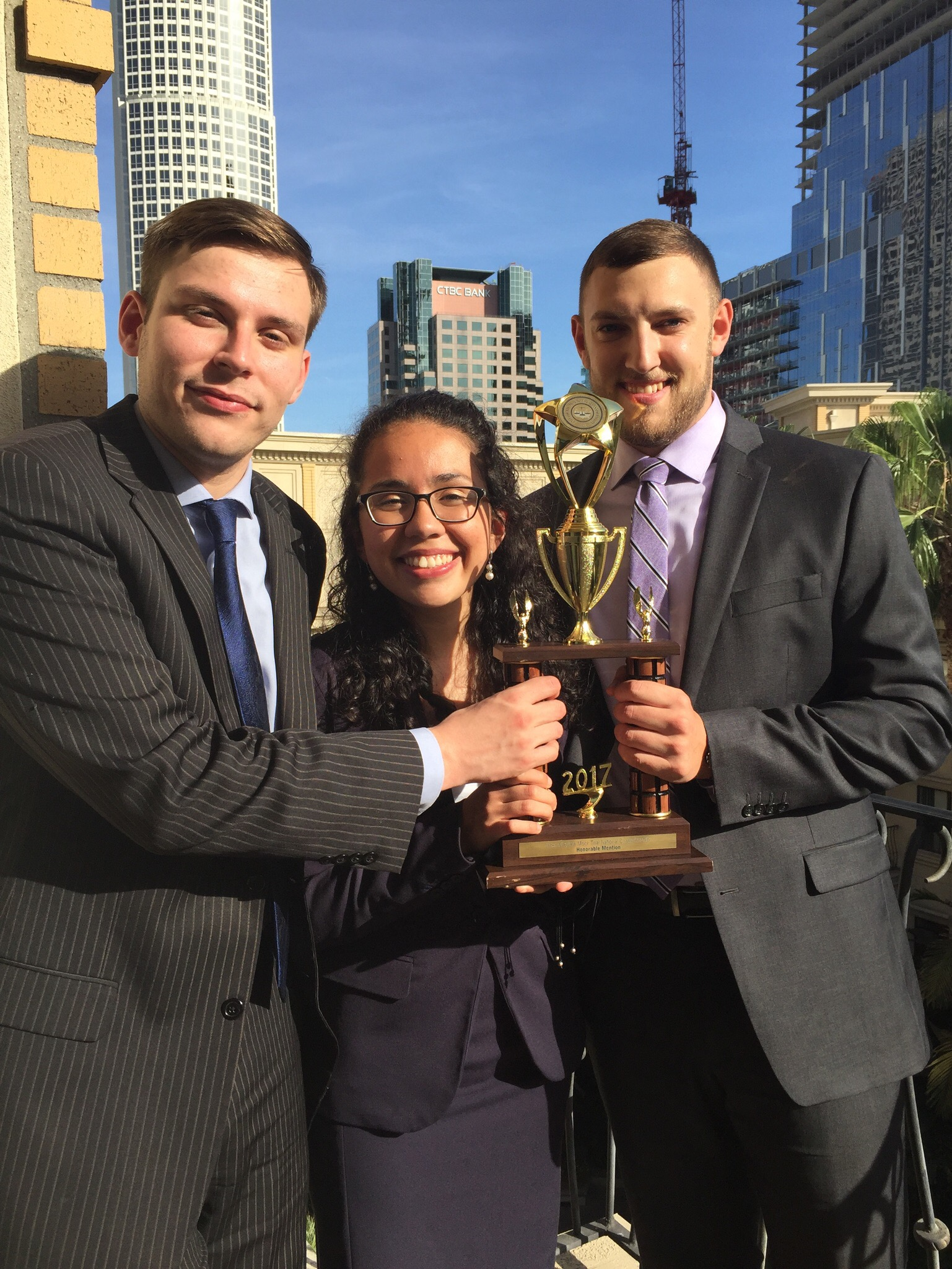 The Penn State Mock Trial Association recieved Honorable Menition Trophy