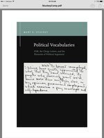 Political Vocabularies: FDR, the Clergy Letters, and the Elements of Political Argument